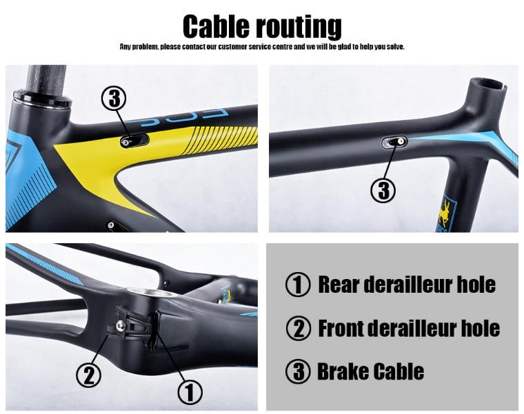 HTB1fcUFX7v85uJjSZFPq6Ah4pXaT - 2017-2018 Tideace aero Cadre Route Frameset Made in China Carbon Fiber Road Bike Frame Bicycle Frame 50/53/55cm