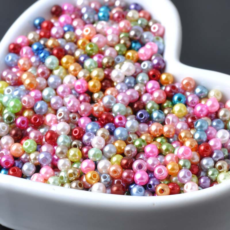3mm 1000pcs Mixed Pearl Beads...