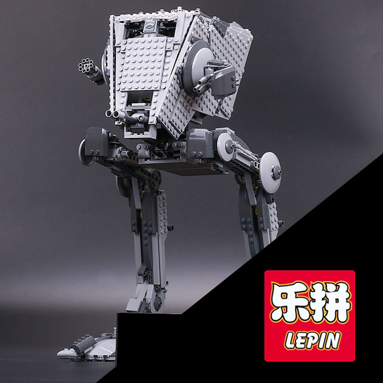 LEPIN 05052 Star The Force set Awakens Kits AT toy ST Walker Model Educational Building Blocks Bricks Compatible War Toy 75153 w 29 at at walker style wall sticker