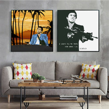 Scarface Portrait Movie Posters And Prints Canvas Art Decorative Wall Pictures For Living Room Home Decor Unframed Painting