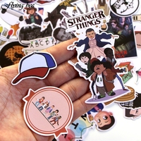 sticker motorcycle Flyingbee 66 pcs Stranger Things Sticker Anime Stickers for DIY Luggage Laptop Skateboard Car Motorcycle Bicycle Stickers X0005 (5)