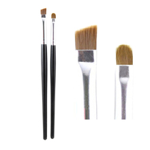 Professional Eyliner Eyebrow Brush Angled+Round 2pcs Eyes Ma