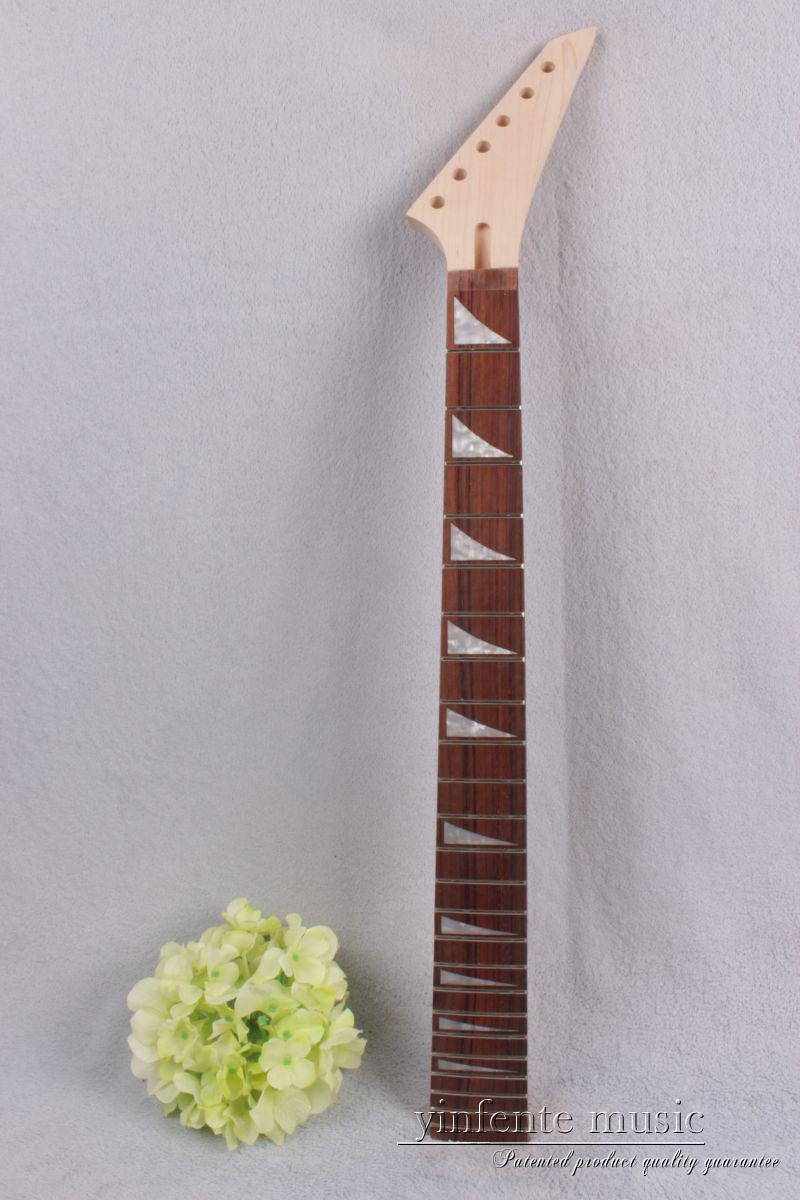 New Electric Guitar Neck Maple Rosewood No Inlaid 24 fret 25.5 inch #751 new electric guitar neck maple 24 fret 25 5 truss rod unfinished no frets nice