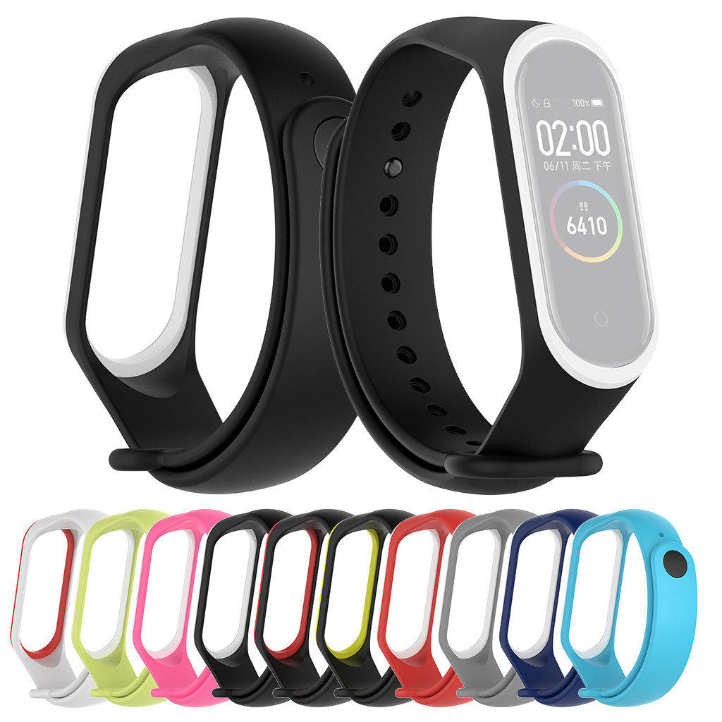 watch Wrist drop Sports Soft Silicone Two color Wristband Wrist Strap For Xiaomi Mi Band 4 2019 hot sales xiaomi mi band 4