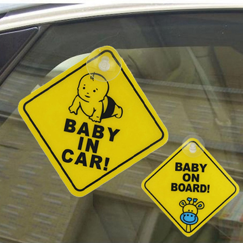 Child Stroller Accessories Car Sucker Sticker Warning Safety Mark Sign Sticker Car Window Decal Sign