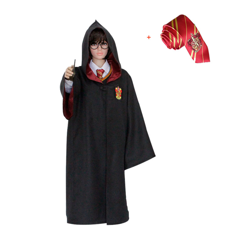 Kids Adult for Hermione Ron cosplay Harri Potter Robe Cape Cloak Gryffindor/SlytherinRavenclaw/Hufflepuff Robe Cosplay Costumes