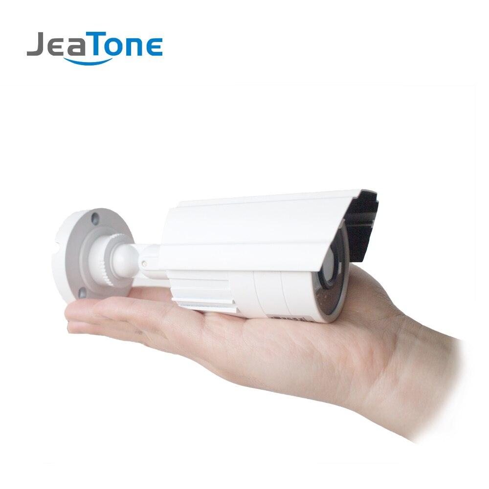 JeaTone 10 4 cableado puerta teléfono Video intercomunicador Video timbre monitor intercomunicador + Extra 1200TVL cámara de seguridad sistema impermeable - 5
