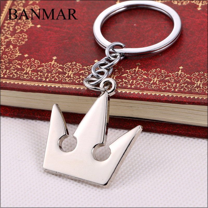 BANMAR Cosplay Anime Game Kingdom Hearts Royal Crown Keychain Metal Key Rings For Gift Chaveiro Key Chain Jewelry For Cars