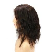Eseewigs Короткие Волнистые Боб 360 Кружева Фронтальная парики 150 плотность для черный Для женщин средней части бразильского человеческих волос,