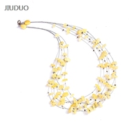 JIUDUO jewelr Natural Amber Gold Cooper Necklace Necklace Chain Clavicle Chain With Shapeless Treasure Without Pressing Fidelity