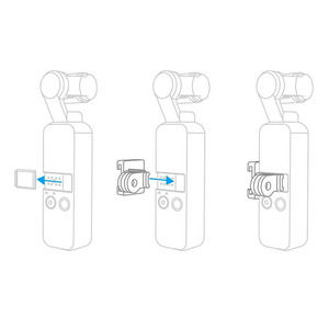 Image 4 - Easy Install Handheld Gimbal Expansion Cold Shoe Universal Mount Data Port Selfie Accessories Lightweight For DJI OSMO Pocket