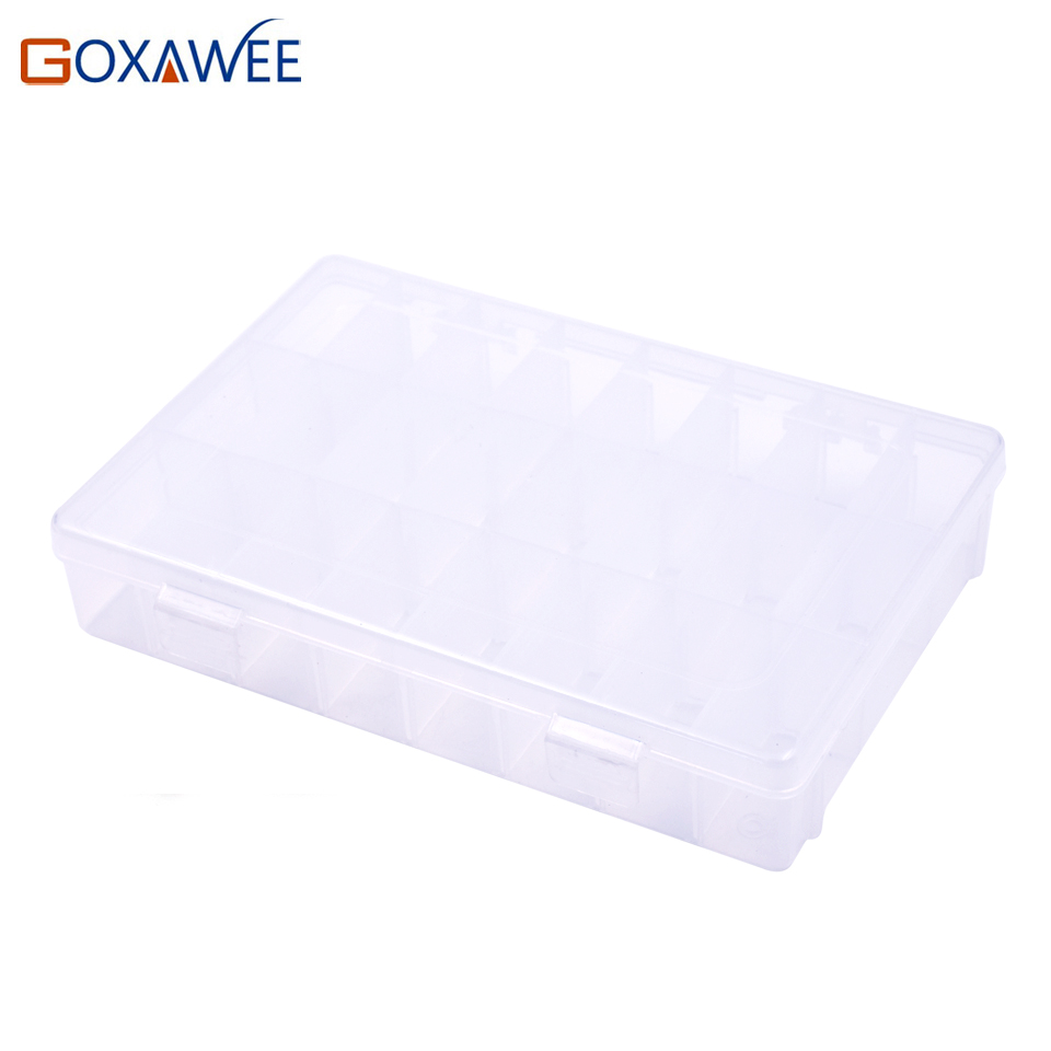 24 grits Tool box Electronic Plastic Container Box for Tools Case SMD SMT Screw Sewing PP Transparent Component Storage Box 12 pcs smd smt electronic component storage box yellow