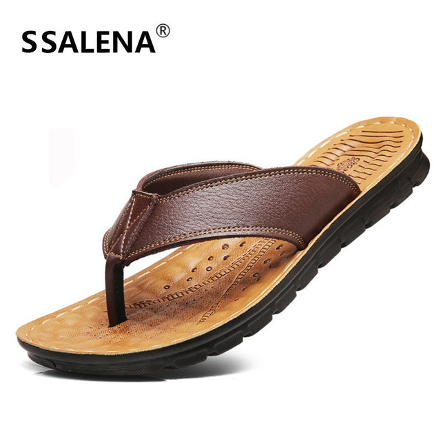 8d0f2ed56c0 Men Beach Summer Slippers Flip Flops Fashion Soft Sole Non Slip Slippers  Outdoor Ocean Water Breathable Shoes AA11658