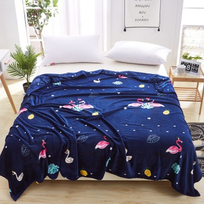 New Cartoon Flamingo Flannel Fleece Blankets Soft Throw On the Bed Coperta Cobertor Bedding/Plane/TV Travel Sofa Cover Quilts