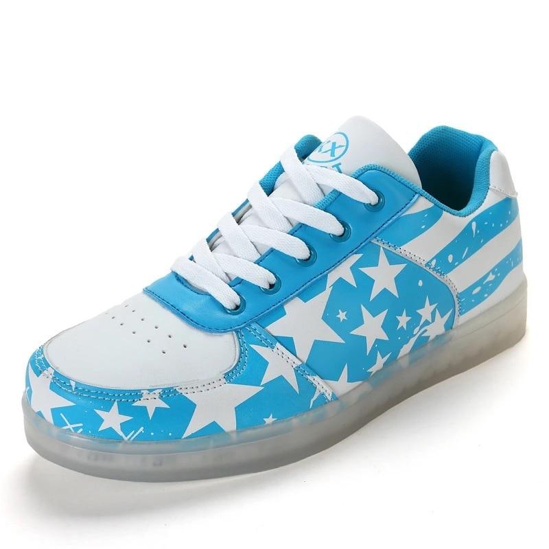 Couple Gros moonlight Taille Couleur Charge Usb Les De Nouveaux Bleu 44 35 Lumière 7 Feux Chaussures Led À En wW1wagXFUq