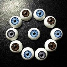 60pcs 16*16mm BJD dolls eyes Plastic Eyeballs High Quality doll accessories Toys Accessories Half Round Eyes Wholesale