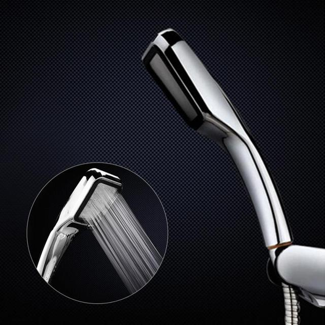 300 holes pressurize shower head water saving hand-held