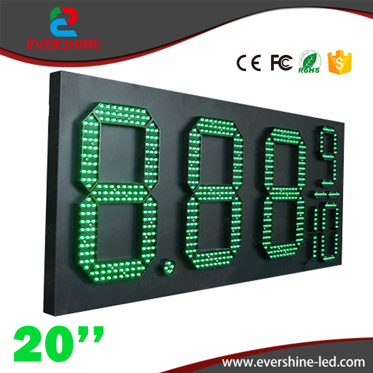 20'' 8889/10 green led outdoor gas station signs \ led gas station price signs \ oil price display led gas petrol price oil gas hd high quality led gas price display sign outdoor led billboard green color 12 outdoor led display screen