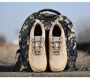 Image 3 - DEWBest дышащая сетчатая защитная обувь мужские легкие кроссовки небьющиеся стальные носочки мягкие Нескользящие рабочие ботинки