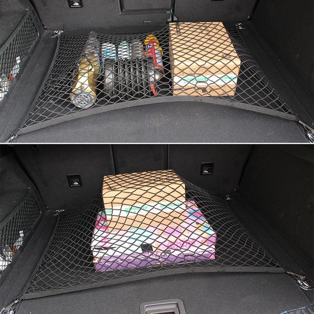 Maletero Organizador de Carga Elástica Equipaje Fija Red Car-styling Auto de Cuerda Bolsa de Estiba ordenar Accesorios para Interiores de Automóviles