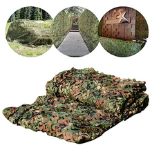 цена на Sun Shelter 2mx10m 4m 3m 1.5mx3m 5m 7m Hunting Military Camouflage Nets Woodland Army Camo Netting Camping ShelterTent Shade Car
