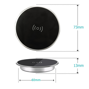 Image 5 - Desktop bedside table furniture desk bar mount 10W QI Wireless Charger for Samsung IPhone Smart Phone Fast Charging QI Universal