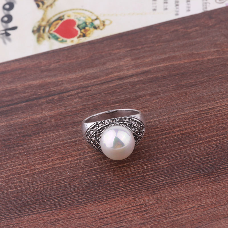 ec96f6c681ac Feelgood joyas de plata color joyas vintage negro rhinestone y Perla ...