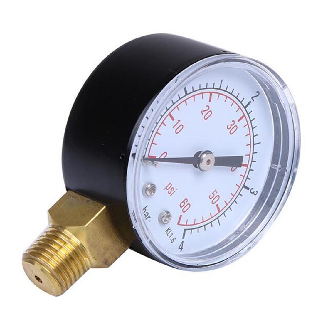 Utility Pressure Gauge 60PSI Side Mount 1/4