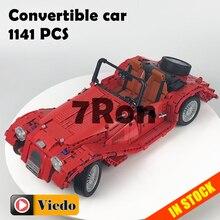 7062 1141 pcs Compatível com blocos de Lego technic Figura Modelo de Carro Conversível tijolos de construção de brinquedos e passatempos para crianças