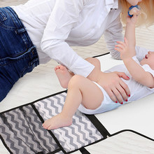 Baby Infant Changing Mat Portable Waterproof Urine Pad Nappy Diaper Cover Polyester Home Travel Outdoor Waterproof Baby Mat(China)