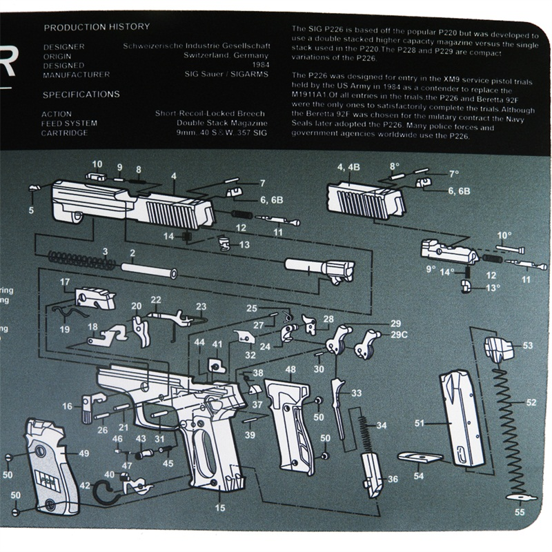 Gun Cleaning Bench Mat Rubber Carpet Waterproof Non Slip Cleaning with Diagram Parts and Instructions Armourist Bench Mat 37 67 in Hunting Gun Accessories from Sports Entertainment
