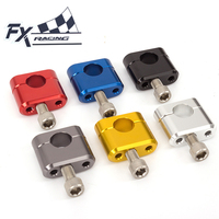 22MM 7 8 FX Aluminum Universal Motorcycle Handlebar Handle Bar Clamps Risers Fat Bar For Pit