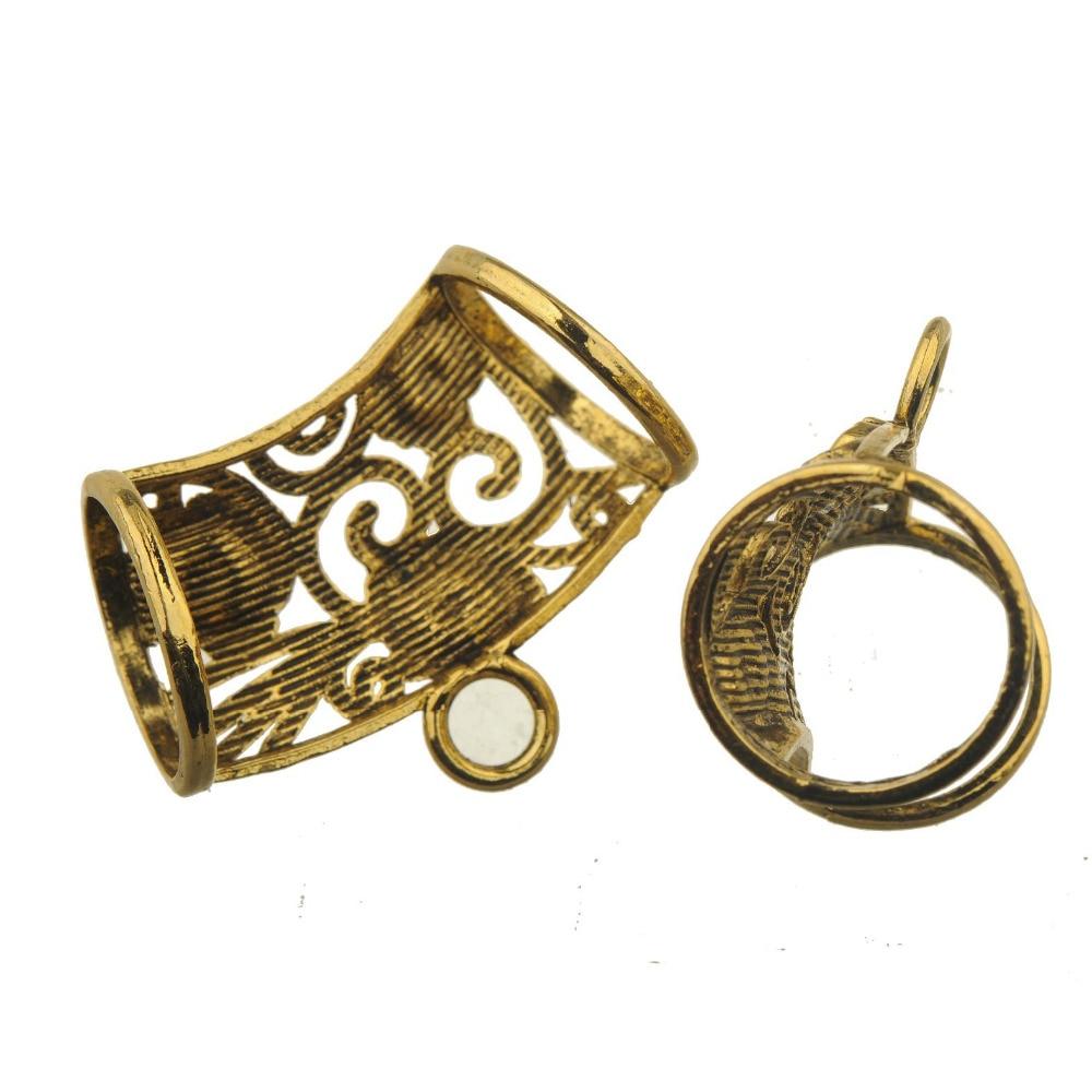 10pcs Necklace Scarf Bails Connectors Gold Tone Large Charms Pendants Findings