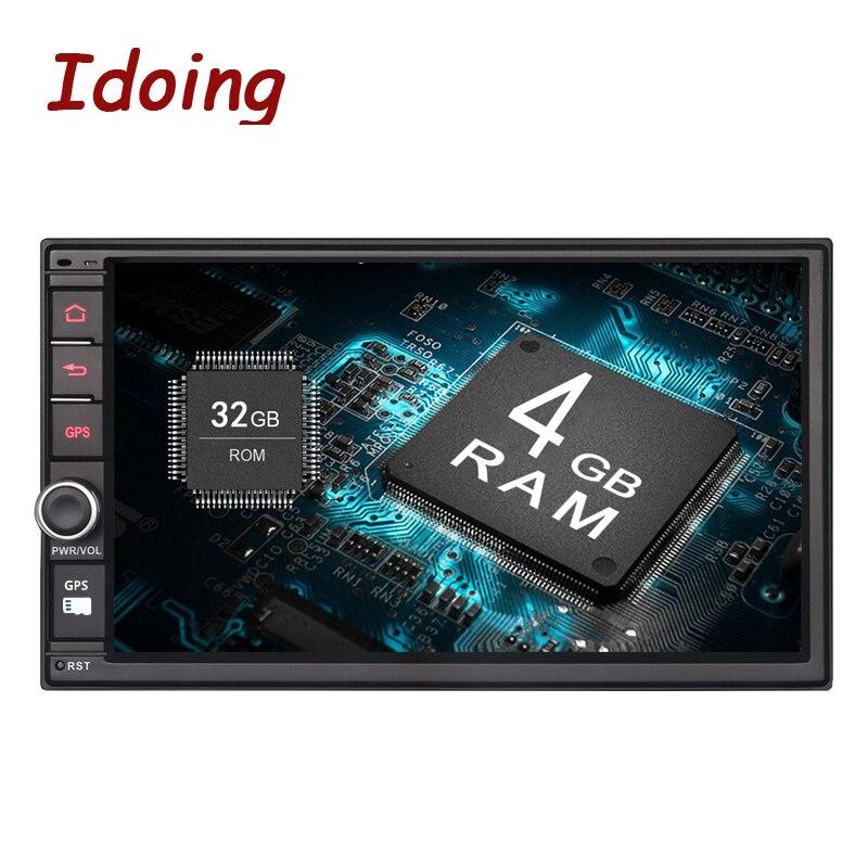 Idoing 4 ГБ ОЗУ 32G ROM рулевое колесо 7 Универсальный 2Din Android 8,0 автомобильный DVD мультимедийный плеер gps навигация 600*1024 радио wifi