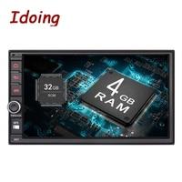 Idoing 4GB RAM 32G ROM Steering Wheel 7 Universal 2Din Android 8.0 Car DVD Multimedia Player GPS Navigation 1024*600 Radio wifi