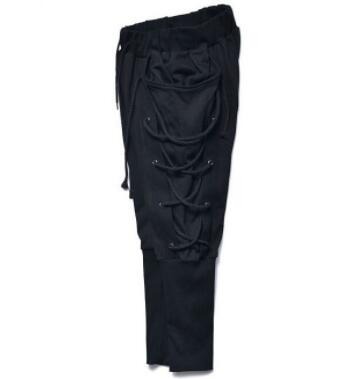 a286b19f7c43 3XL Rope Eyelet Baggy Sweatpants Medieval Viking Navigator Trousers Fashion  Bandage Pants Renaissance Earl Pants