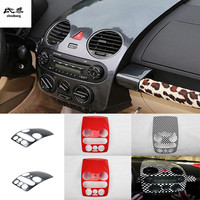 1pc Car stickers carbon fiber ABS material Central console panel decoration cover for 2003 2012 Volkswagen VW Beetle