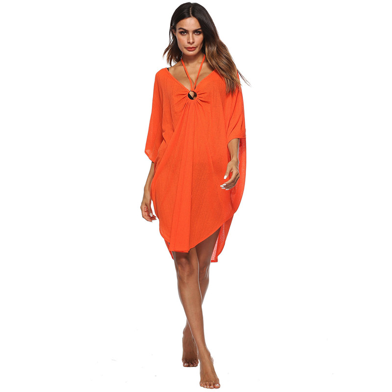 Летние платья Повседневное Новое поступление Для женщин s Многоцветный шею пикантные открытые Для женщин перспектива платье пляжное плать... ...