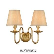 купить North European Bedside Wall Sconce Lamp E27 LED Fabric Lampshade Wall Mount Double Lights Princess Modern Corridor Lamp Lustre по цене 2163.66 рублей
