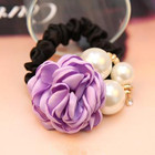 HOT SALE Flower Hair Tie for Women Pearl Hair Band Fabric Hair Flower Tie Beautiful Flower Hair Accessories Hairband