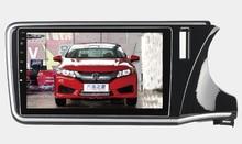 8 Core, 2G RAM, 32g rom, 10.1 pulgadas android 6.0 sistema de navegación del gps del coche estéreo multimedia para honda ciudad 2014-2016 volante a la derecha