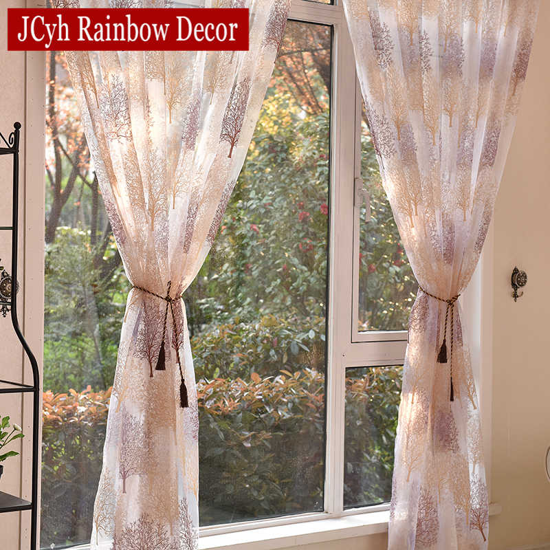 Tende di Tulle trasparenti in stile giapponese per soggiorno tende di oscuramento per bambini camera da letto finestra tende da cucina tende tende