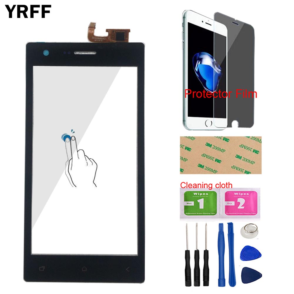 5.0'' Mobile Touch Screen Digitizer Panel For Micromax Q413 Touch Screen Front Glass Lens Sensor Panel Protector Film