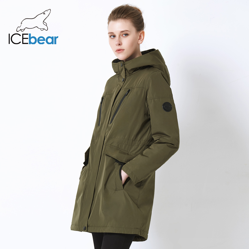 Image 3 - ICEbear 2019 new fall women jacket high quality casual ladies jacket slim hooded brand jacket GWC18010I-in Parkas from Women's Clothing