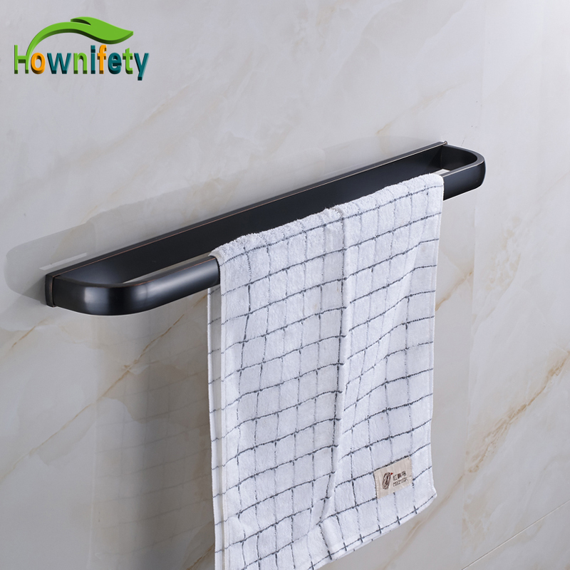 Classical High Quality Solid Brass Bath Single Towel Bar Towel Hanger Wall Mount Oil Rubbed Bronze oil rubbed bronze wall mount towel rack holder round towel bar hanger solid brass