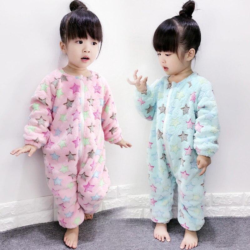 Aggressiv Baby Pyjama Hinzufügen Wolle Warm Zipper Nachtwäsche Für Mädchen Jungen Infant Niedlich Gemütlich Weicher Nachtwäsche Kleines Kind Homewear Verhindern Kalt