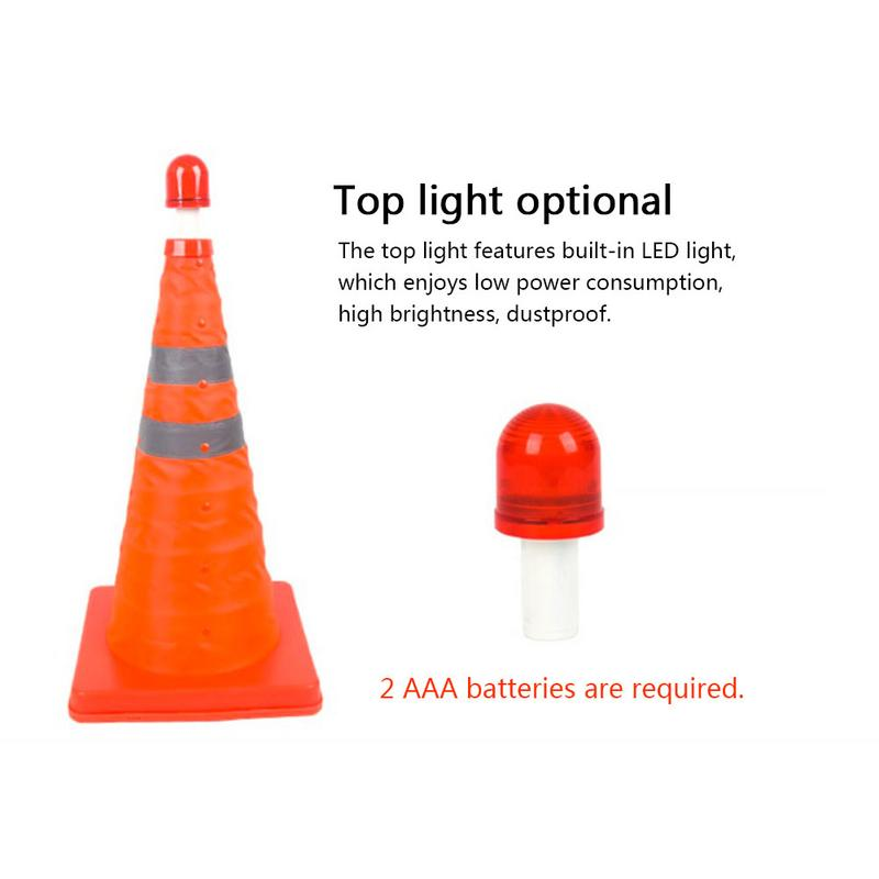 Image 5 - New Telescopic Traffic Cone Car Warning Sign Roadblock Reflective Cone Roadside Emergency Triangular Safety Sign Export-in Reflective Strips from Automobiles & Motorcycles