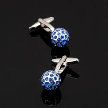 XK135 High quality men's shirts Cufflinks Blue crystal ball Cufflinks brand of men's clothing accessories
