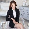 Весна и Осень новый деловой одежды женской моды Корейской версии костюм OL белых воротничков бизнес suits-do830