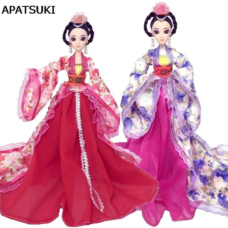 36b2a62a8 Aliexpress.com  Comprar Miniatura Cosplay tradicional chino antiguo traje  de belleza ropa para muñeca Barbie vestido de fiesta Vestidos de noche  muñeca ...